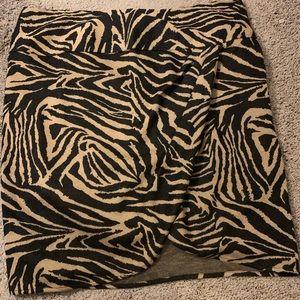 Lane Bryant Animal Print Skirt